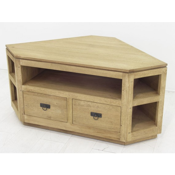 meuble tv angle 2 tiroirs 5 niches maya