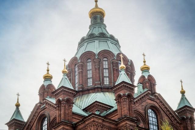 The stunning Uspenski Cathedral in Helsinki.