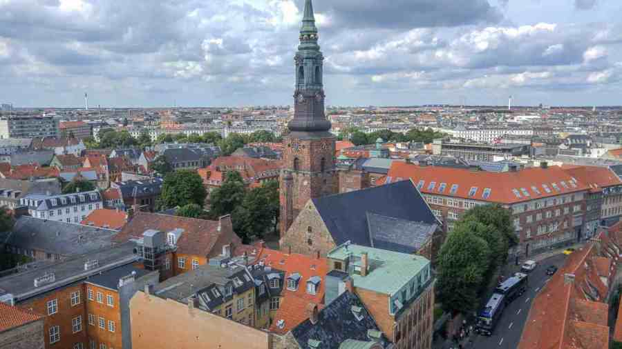 one day in copenhagen itinerary view from round tower