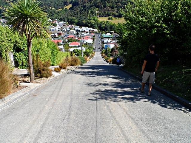 Baldwin Street v Dunedine - najstrmejšia ulica sveta