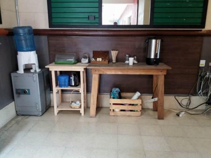 Coffee at the Andaina Hostel Oaxaca Mexico