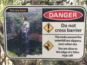 Wentworth Falls sign