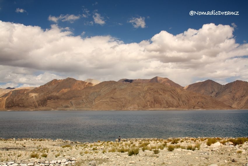 Pangong lake in the afternoon
