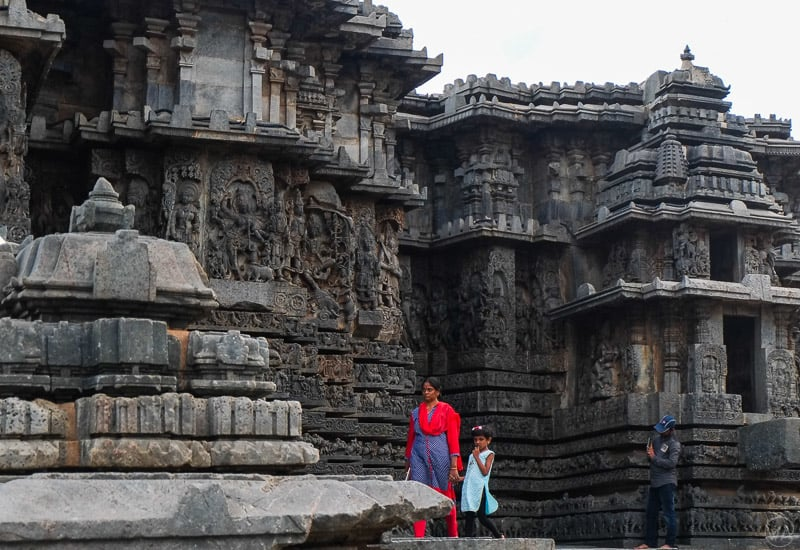 A view of the stone cut temple of Belur. Belur and Halebid temples are popular weekend getaways from Bangalore