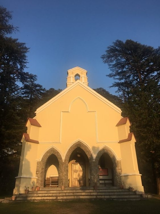 Facade of St Paul's Church in Landour