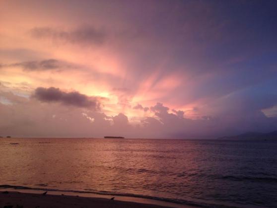 Sunsets on a deserted island. Major key.