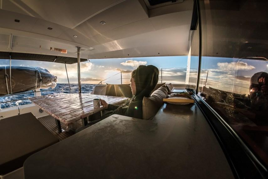 Sipping tea at sea