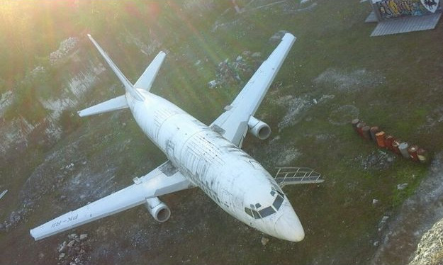 Second abandoned airplane in Bali