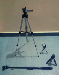 Digital Nomad packing tripods