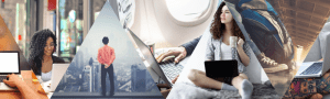 7 different Digital Nomad travel & work styles, featuring 5 Digital Nomads