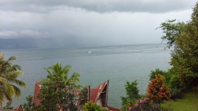 Lake Toba for Digital Nomads - The view from the hotel restaurant