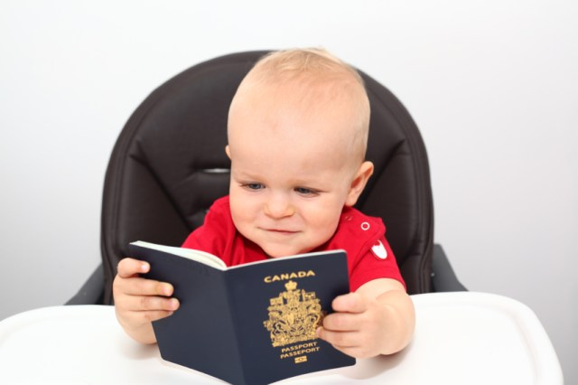Baby with passport