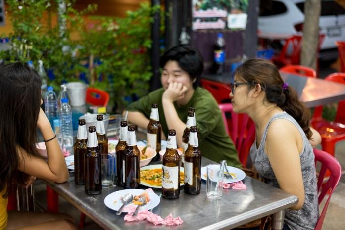 thailand, bangkok, food, drinking, singha