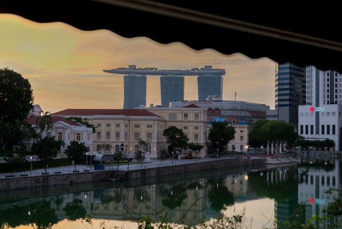 singapore, morning, sunrise, cityscape, clark quay