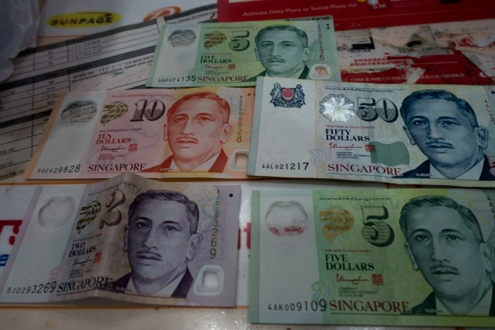 singapore, clean, money, currency, dollars