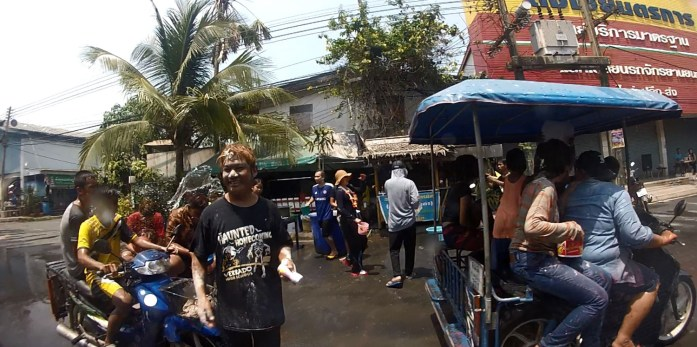thailand, don sak, surat thani, songkran, water, festival