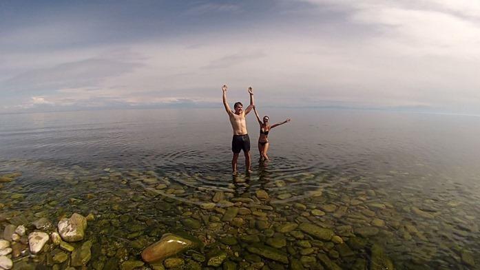 dip in Baikal 1