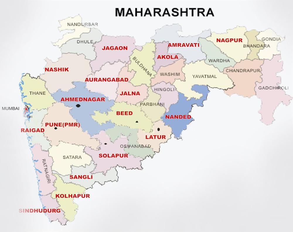 Tourist Places In Maharashtra Map