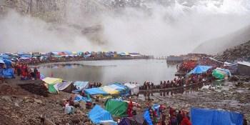 Hadsar in himachal Pradesh - Camp at Manimahesh Lake