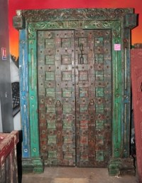 Indian Doors & Hand Carved 18th Century Indian Large ...