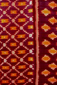 Cambodian Silk Ikat Textile Cambodia Weaving Cloth Fabric