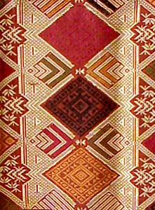 Laotian Silk and Cotton Textile Laos Weaving Cloth Fabric