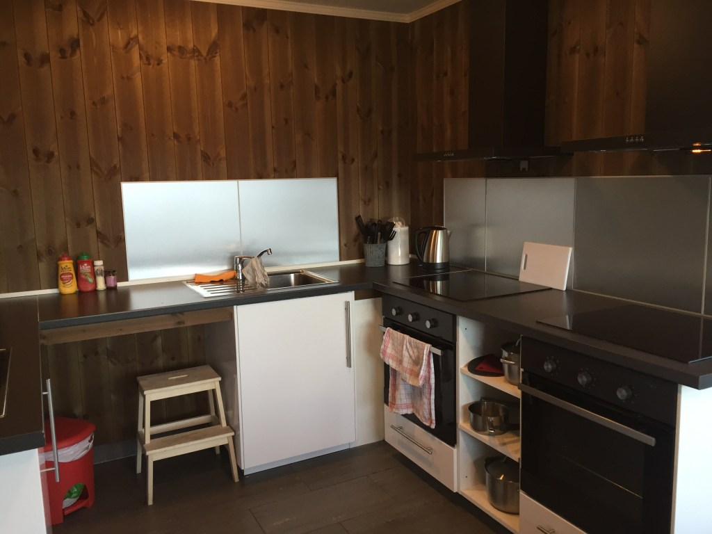 camping in norway, campers kitchen,