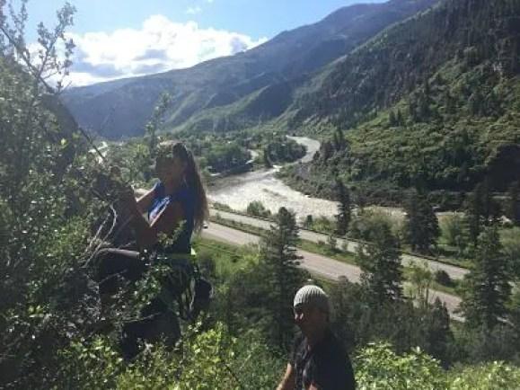 rock climbing, kids, family travel, glenwood springs, colorado, puoux