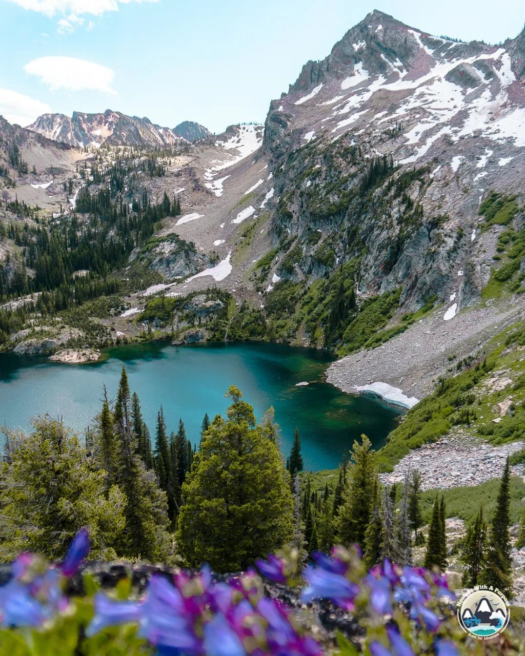 Alpine Lake, Sawtooth Lake trail, Sawtooth Mountains