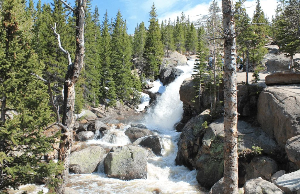 Alberta Falls, Rocky Mountain National Park, Colorado, best hikes for young kids