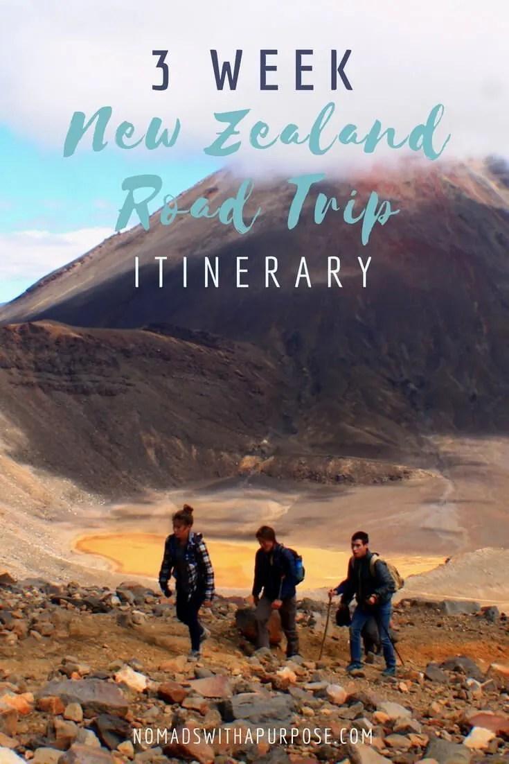 3 week New Zealand road trip itinerary