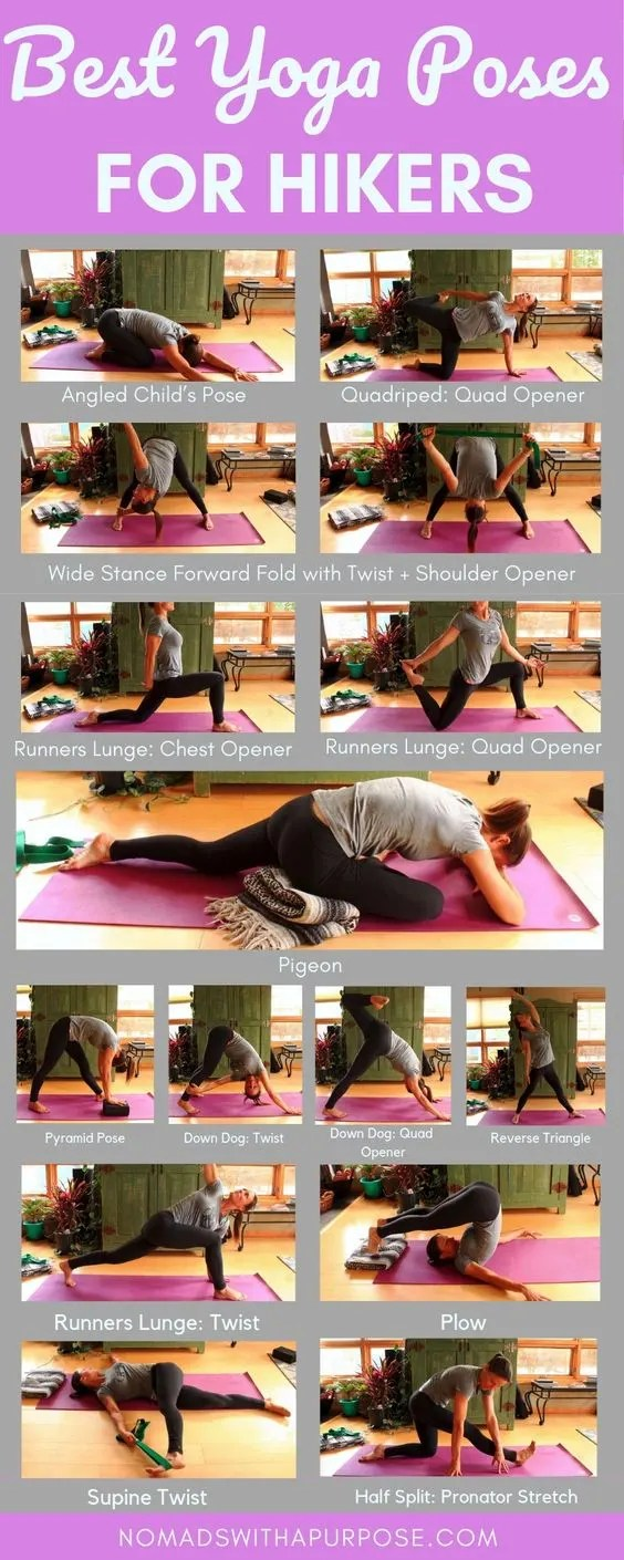 yoga for hikers infographic