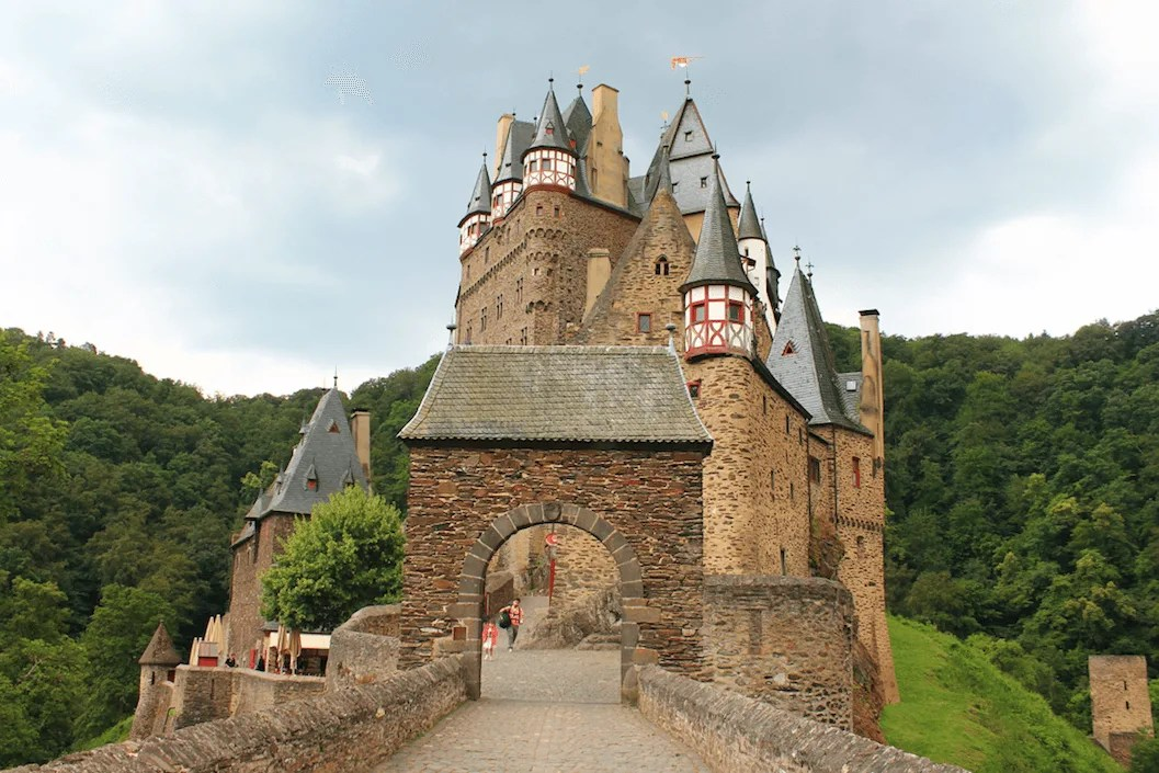 Front view of one of the Berg Eltz castle