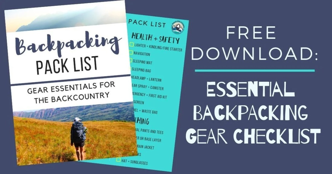 Backpacking Pack List Freebie