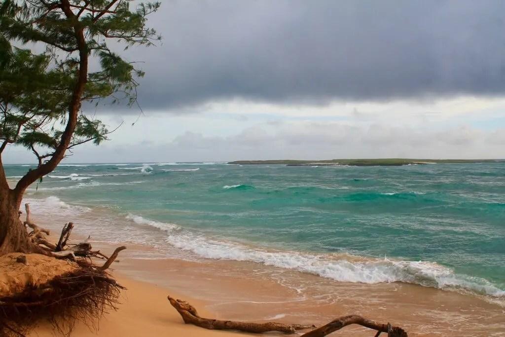Malaekahana beach on our outdoor adventure in Oahu