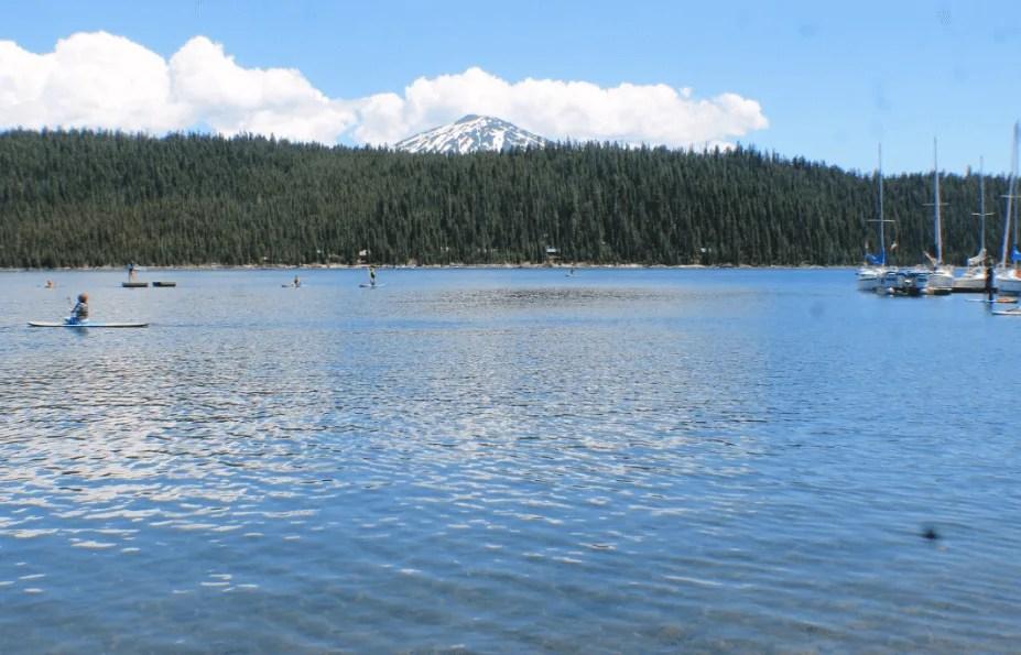 Elk Lake water sports on Cascade Lake Highway