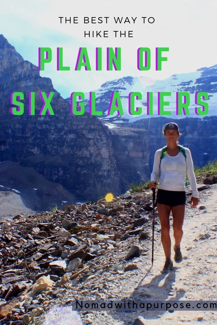 hiking plain of six glaciers lake Louise
