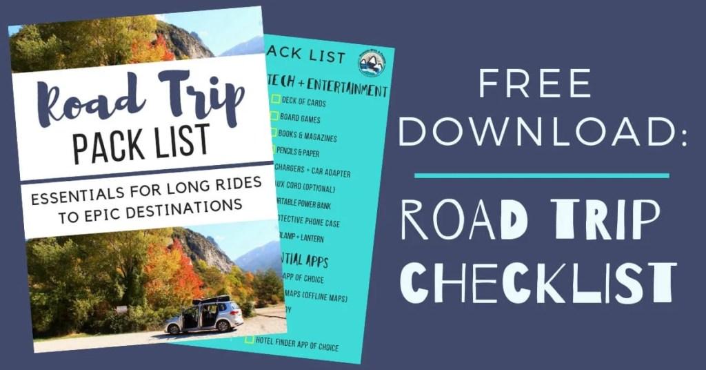 Road Trip Pack List download