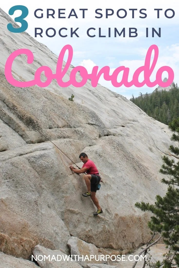 Rock climbing colorado pin