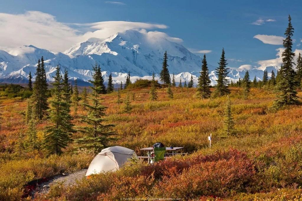 Wonder Lake campground, Denali National Park, Hiking and Camping, Alaska