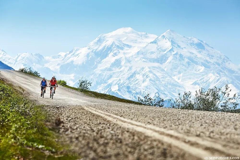 Biking Parks Road, Denali National Park, Hiking and Camping, Alaska