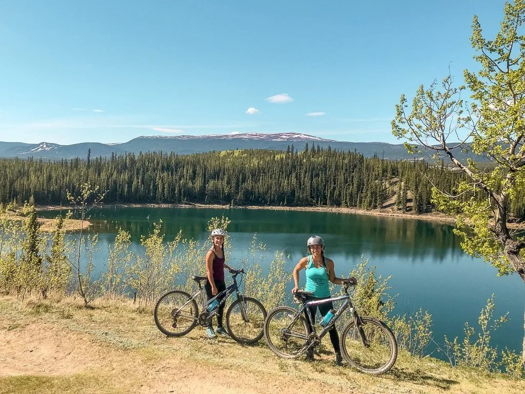 Hidden Lakes mountain biking, Golden Circle, Yukon