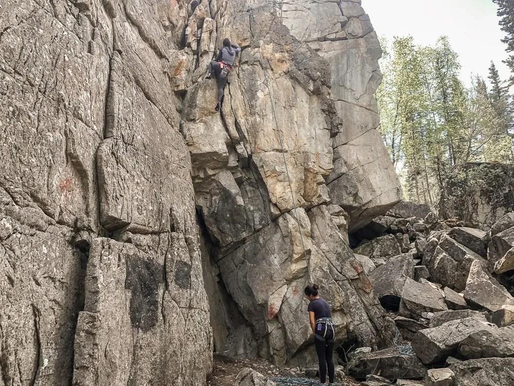 Whitehorse rock climbing, Golden Circle, Yukon