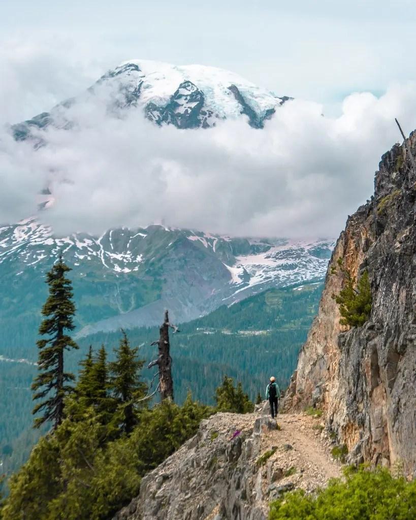 Hiking Pinnacle Peak Mount Rainier NP, Things to do Rainier