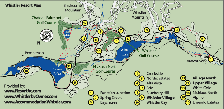 Map of Whistler Things to Do