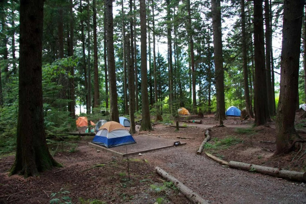 Stawamus Chief campground Squamish