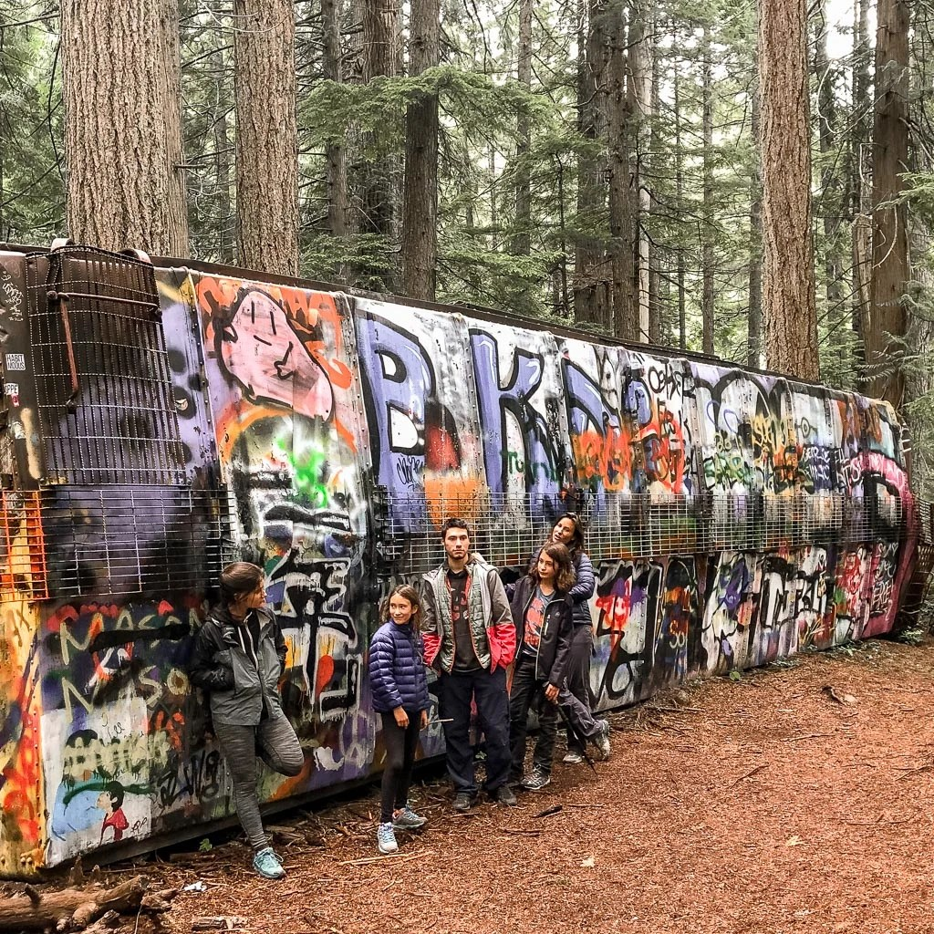 Whistler Train Wreck graffiti