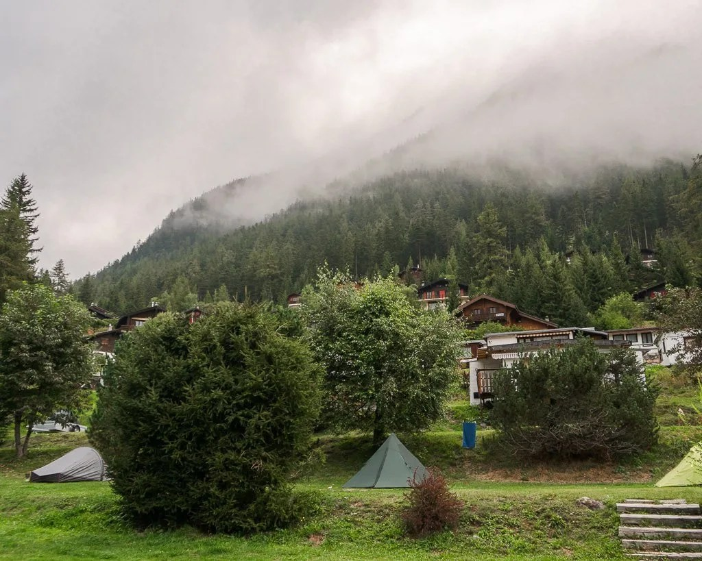 Champex camping, Tour du Mont Blanc, Swiss Alps