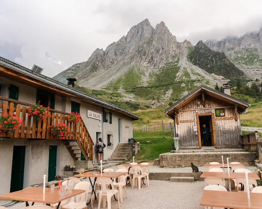 Chalet Refuge de la Balme on the Tour du Mont Blanc stage 2