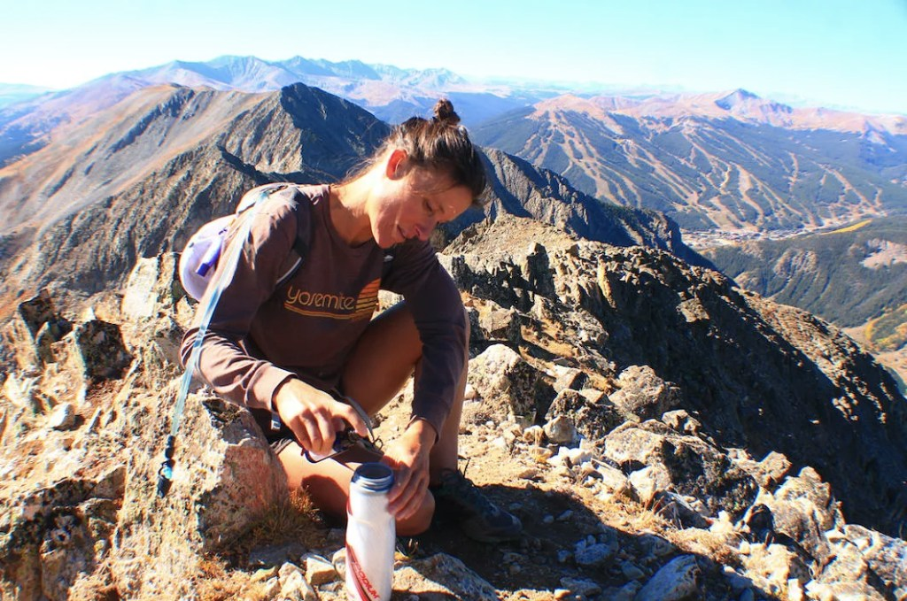 Using EnduroPacks Liquid Electrolytes on a long day hike